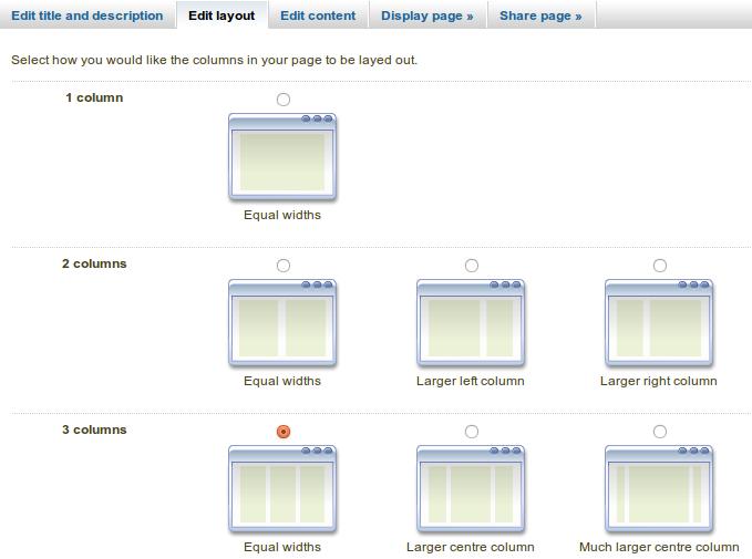 4.2. Page editor — Mahara 1.5 user manual
