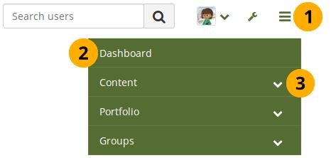 Main menu navigation