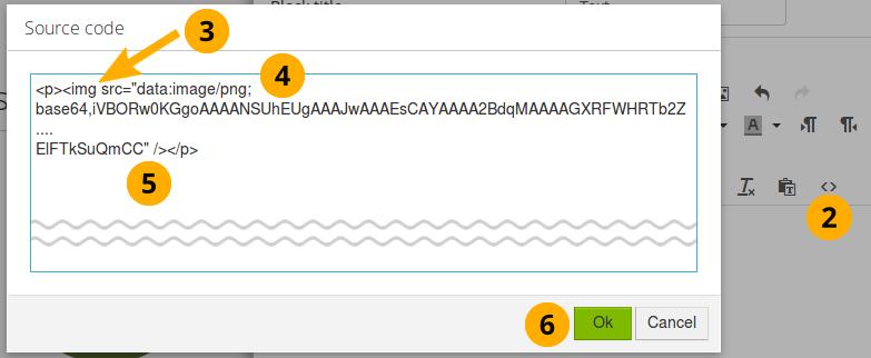 16 1  Insert an image into text — Mahara 18 04 user manual