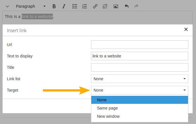 Open links in a new tab or window