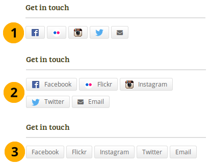 The 3 options for displaying your social media accounts