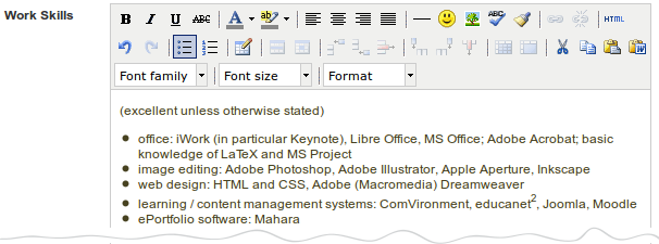 how to write skills section of cv