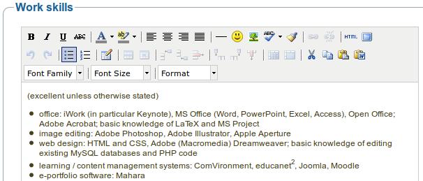 3 5  curriculum vitae  u2014 mahara 1 6 user manual